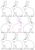 Bunny 2 repeat, even rows x flip