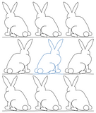 Bunny 3 repeat, even rows x flip