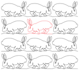 Bunny 5 repeat, even rows x flip