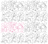 Butterfly and Rose 1 and Butterfly and Wild Rose 2 alternated repeat