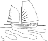 Chinese Junk quilting pattern