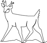 Deer Young Buck quilting pattern