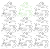 Ducks with Grass in Pond repeat