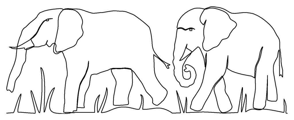 Elephant Pair quilting pattern
