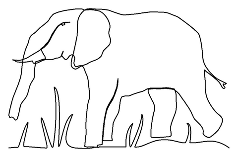 Elephant quilting pattern