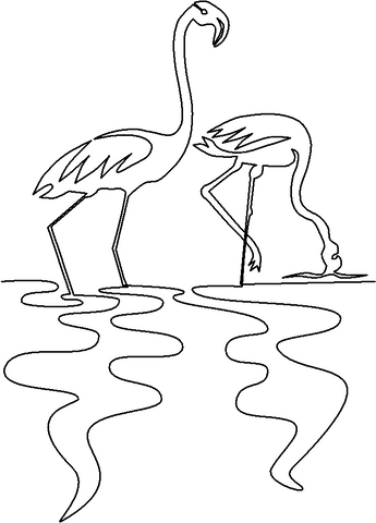 Flamingo Pair quilting pattern