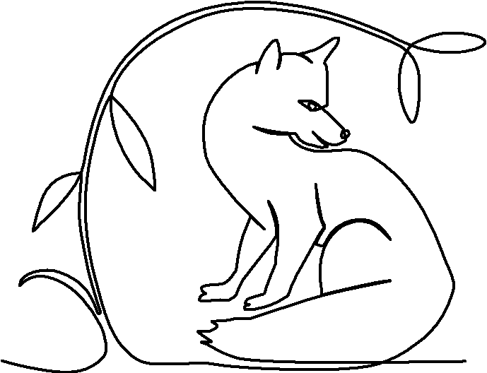 Fox Sitting in Bower quilting pattern