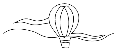 Hot Air Balloon quilting pattern
