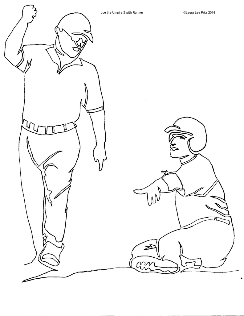 Baseball Joe the Umpire 2 with Runner