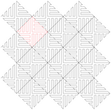 On Point Basketweave repeat, nested