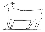 Petroglyph Goat quilting pattern