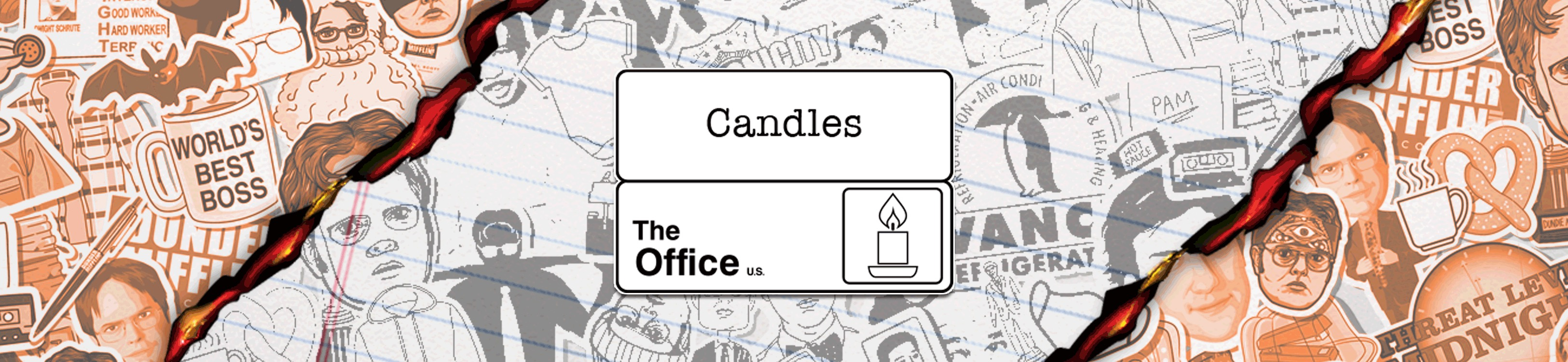 the office scented candles