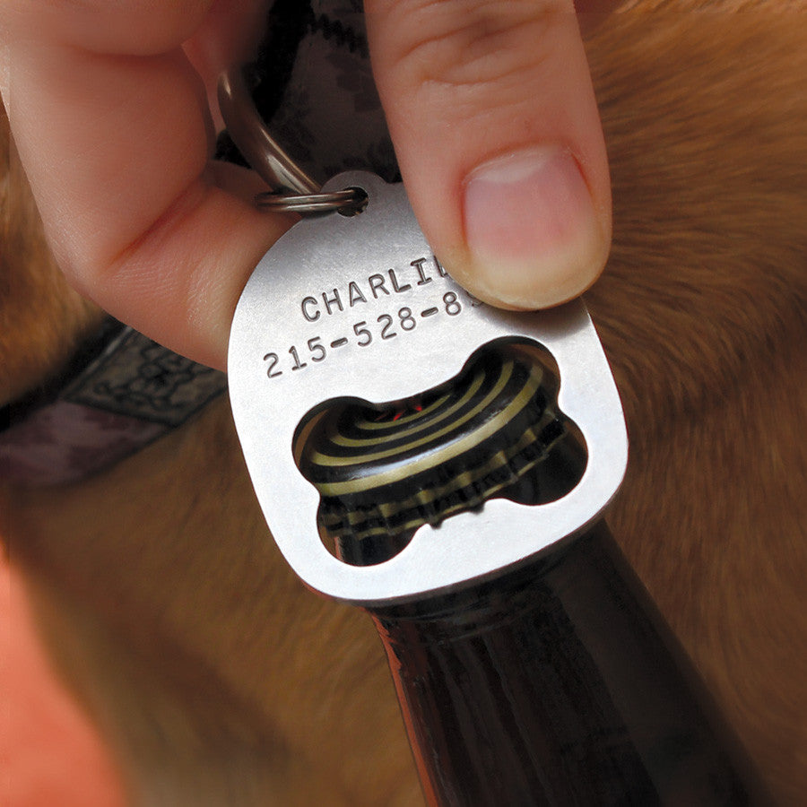 Double Sided Bottle Opener ID Tag