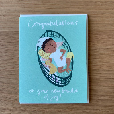 "Baby Card ""Baby Basket"""