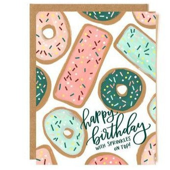 "Birthday Card ""Donut Sprinkles"""