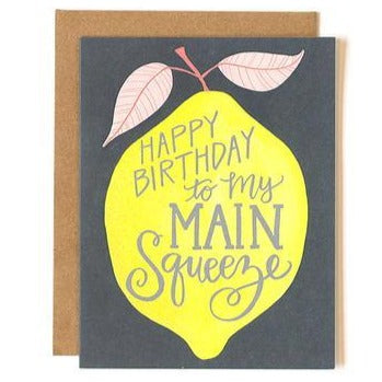 "Birthday Card ""Main Squeeze"""