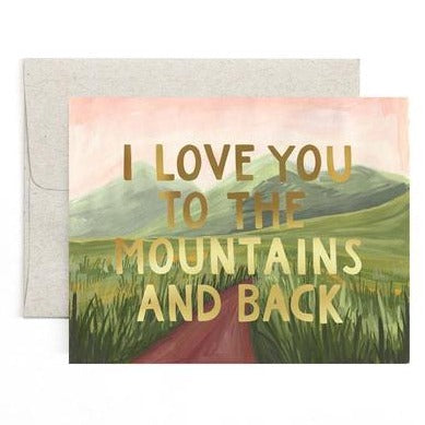 "Love Card ""Mountains and Back"""