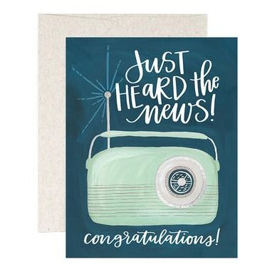 "Celebration Card ""Radio News"""
