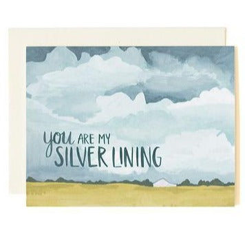 "Love Card ""Silver Lining"""