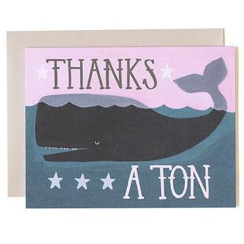 "Thank You Card ""Whale"""