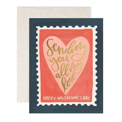 "Valentine Card ""Love Stamp"""