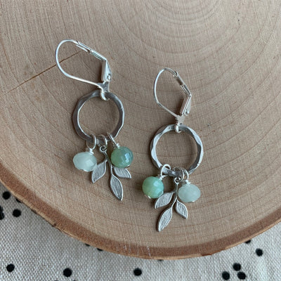 Silver Ring + Branch Earrings