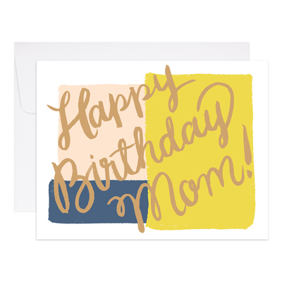 "Birthday Card ""Mom Gold Foil"""