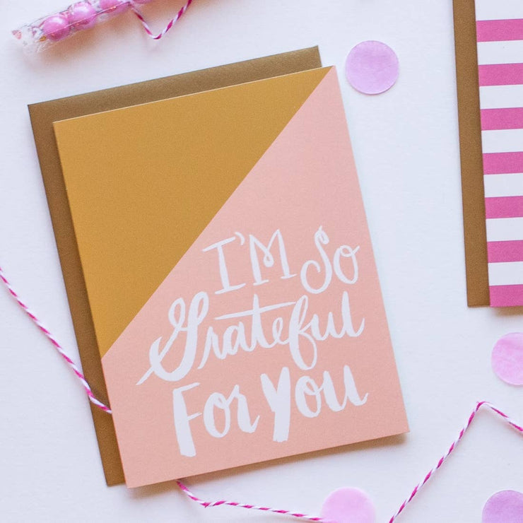 "Everyday Card ""Grateful for You"""