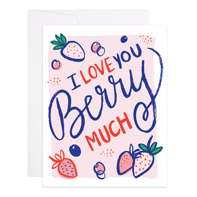 "Love Card ""Love You Berry Much"""
