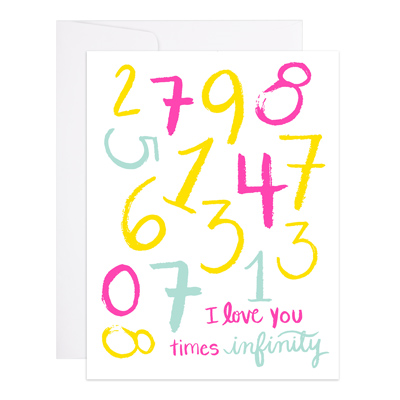 "Love Card Letterpress ""I Love You x Infinity"""