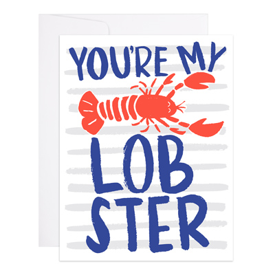 "Love & Friendship Card ""Lobster"""