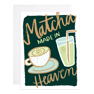 "Love & Friendship Card ""Matcha"""