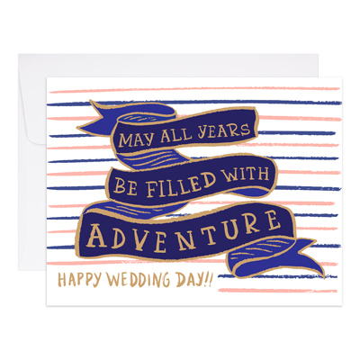 "Wedding Card ""Years of Adventure"""