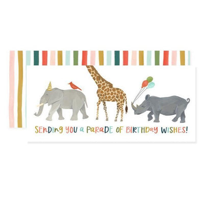 "Birthday Card ""Animal Parade"""