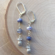 Silver Wire Wrap Earrings