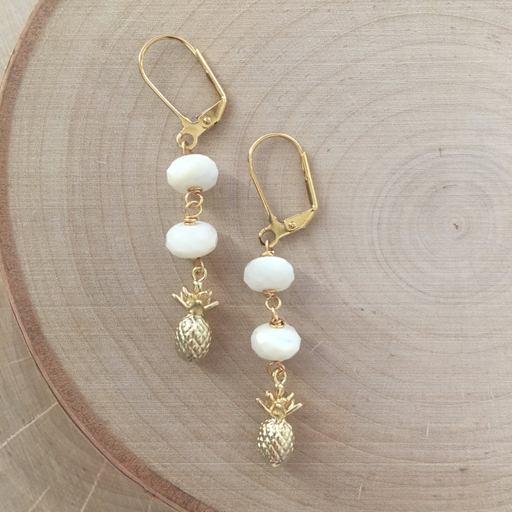 Sale Gold Pineapple Earrings