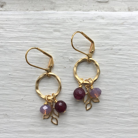 Gold Ring + Branch Cluster Earrings