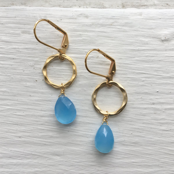 Gold Ring + Gemstone Earrings