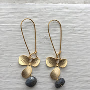 Gold Magnolia Earrings
