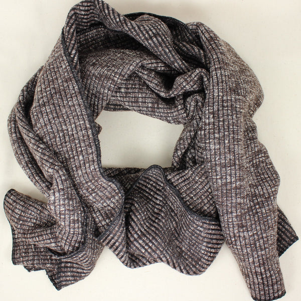 Winter Ribbed Knit Scarf