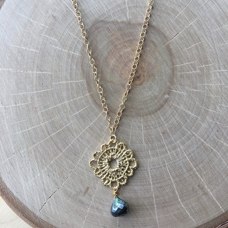 Gold Pendant Short Necklace