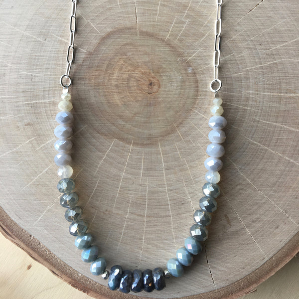 Silver Flex Long Necklace