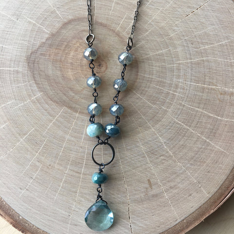 Gunmetal Wire Wrap Necklace