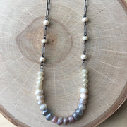Gunmetal Flex Long Necklace