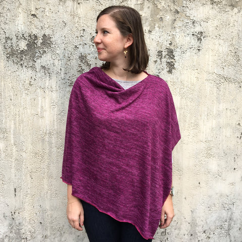 Heather Jersey Ponchos