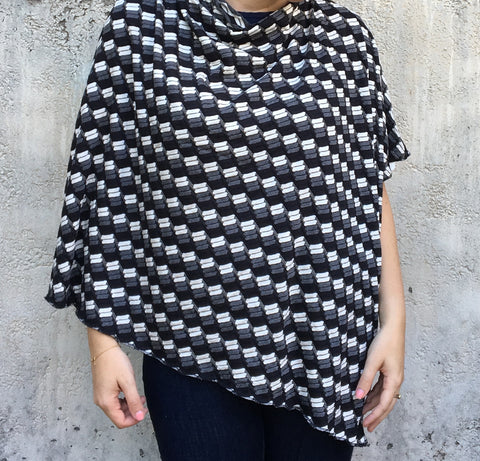 Black & White Ponchos