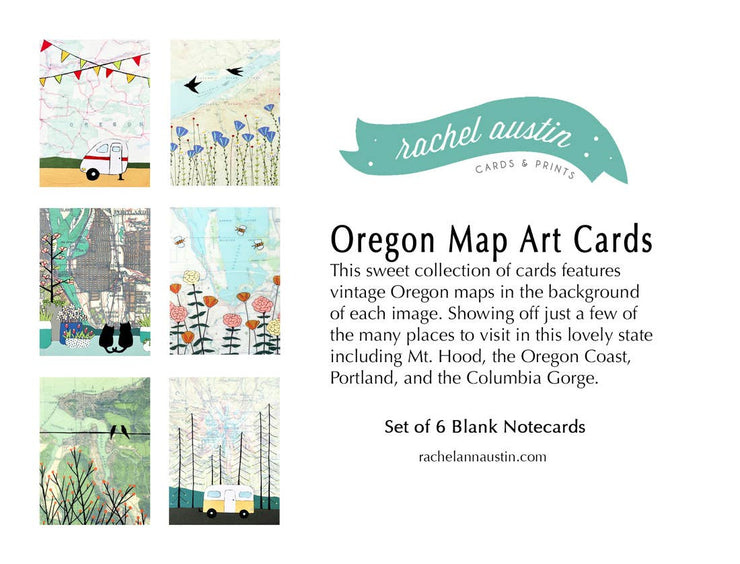 "Boxed Blank Cards ""Oregon"""
