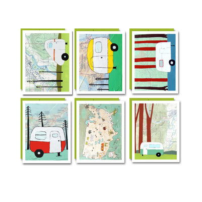 "Boxed Blank Cards ""Campers"""