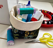 SALE Canvas Storage Basket XS
