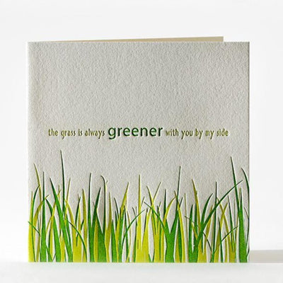 "Anniversary Card ""Grass is Greener"""